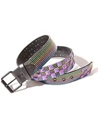 Accessoryo - étoiles multicolores ceinture d impression avec le détail de  goujon de couleur disponible 845cb6f5ce0