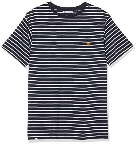 Putney Bridge (Putney Bridge Herren Crown Stripe T-Shirt, Blau (Navy/White Nwh), Herstellergröße: Small)