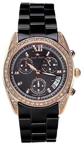 Stella Maris Damen Armbanduhr - Analog Quarz - Premium Keramik Armband - Perlmutt Zifferblatt - Diamanten und Swarovski Elemente - STM18SM26
