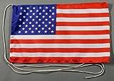 USA 15x25 cm Tischflagge in Profi - Qualität Tischfahne Autoflagge Bootsflagge Motorradflagge Mopedflagge
