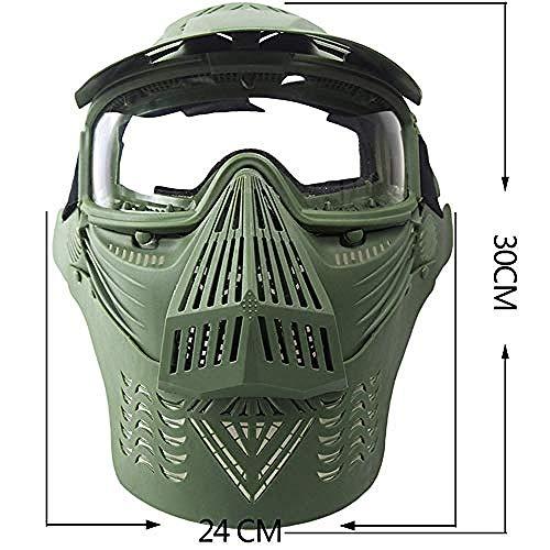 Lxdzgm CS taktischer Schutz Feldmaske Spiel Transformers grüne Linse Maske Wasserpistole Zubehör (Größe: - Cooles Transformer Kostüm