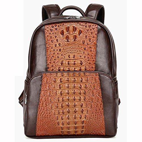 Casual Fashion Rucksack Schulbeutel Computer Rucksack,Black Brown