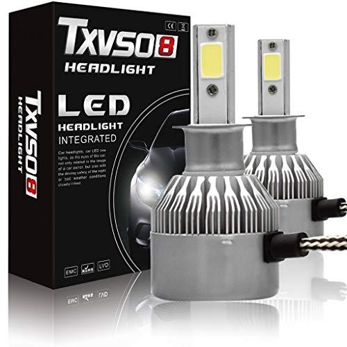 QWE Kit Lampadina H4LED per Faro, Lampada Sostitutiva per Lampada alogena e Lampada allo Xeno - 6000K Bianco 12 / 24V (2 Confezioni) (Dimensioni : H4)