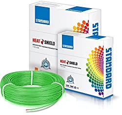 Standard Single Core PVC insulated HTR FR Wire 1 sq mm wire (Green)
