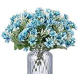 Especificación del producto  Categoría: Ramo Azul Artificia, flores azules decoracionl  Material: Seda, plastic. Muy bueno a la vista y al tacto.  Longitud total: 30cm, con 30 flores cabezas.  Cabeza de flor: 4cm de ancho  Embalaje: 2 ramos, ...