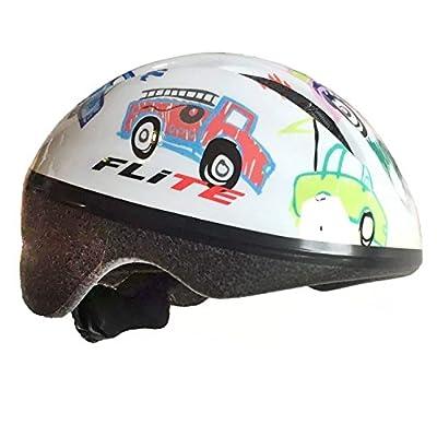 Flite Lil' Bub Child's Cycle Helmet - Boys Bike Helmet - Cars Flowers (48-52cm) from Flite
