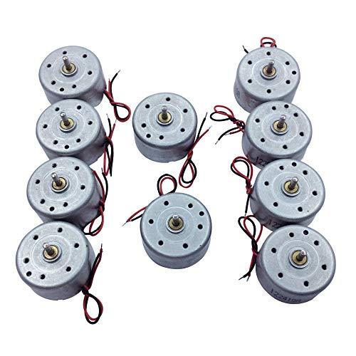 5 Stücke / 10 Stücke Mini Generator Motoren DC Pinsel Elektrische Micro Elektromotor 3 V 3300 RPM für DIY Spielzeug Windkraftanlage Generator (3V-3300RPM, 10 PCS) (3v Ventilator Elektrischer)