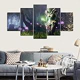 xutongrui 5 Pezzi Wall Art Painting Warframe Home Decor Canvas HD Stampato Immagini Gioco Poster Decorazione Murale Cuadros Wall Art