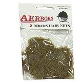 William Hunter Equestrian Aerborn-Retine per capelli a rete, 2/Pk, colore: marrone chiaro
