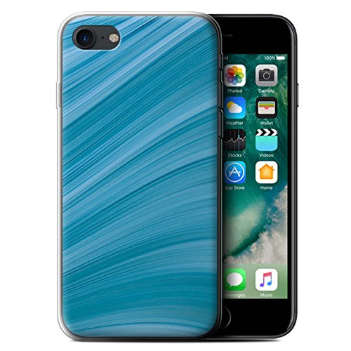 Stuff4 Gel TPU Hülle / Case für Apple iPhone 7 / Martini-Glas/Alkohol Muster / Teal Mode Kollektion Abstrakte Welle