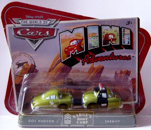 - The World of Cars - MINI Adventures - Sarge's Boot Camp 2-Pack - DOC HUDSON & SHERIFF - OVP ()