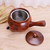 KITCHY Chinese Style Traditional Nature Wooden Teapot Long Handle Portable Coffee Tea Maker Pot Kettle: Wooden Teapot