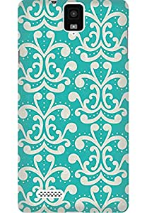 AMEZ designer printed 3d premium high quality back case cover printed hard case cover for InFocus M330 (green branches)