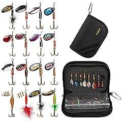 Idea Regalo - PLUSINNO Attrezzature da pesca per bassotti a spillo con borsa portatile portatile