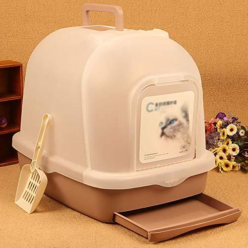Zhanghaidong Katze Wurf Fach Kätzchen WC Filter Carry Griff Tray WC Box Ultra Selbstreinigende Wurf Box Dome Outdoor Wasserdichte Kapuze Katze Katzenklo -