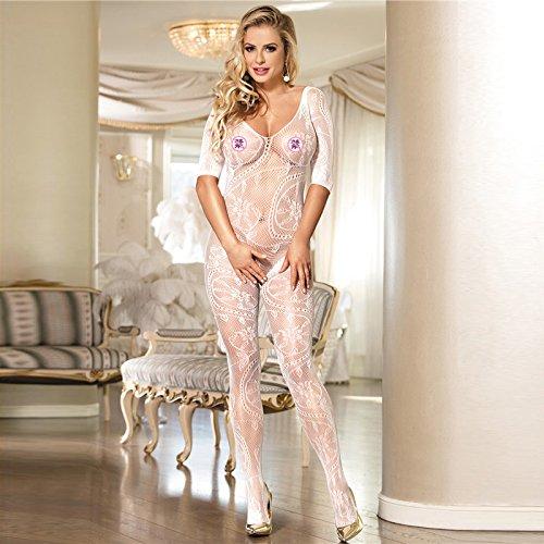 slim lace top trasparente mutande prospettiva sette punti slim manica lace siamesi pigiama,gules