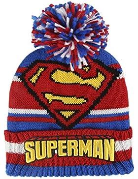 Dc Comics Superman 2200-2460 Cappello Invernale Pompon, Acrilico, Bambino, Multicolore