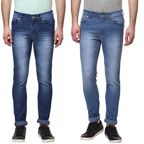 Urban Navy Men's Slim Fit Stretchable Jeans Pack of 2 Combo