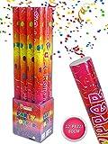 Vetrineinrete® Set 12 sparacoriandoli colorati da 40 60 e 80 cm per feste matrimonio compleanno tubo cannone coriandoli party (80 cm)