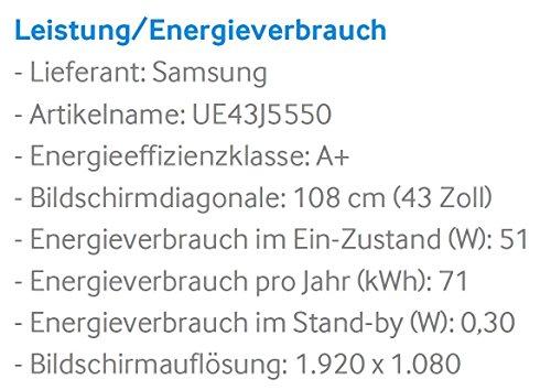 Samsung UE43J5550 109 cm (43 Zoll) Full-HD Fernseher - 3
