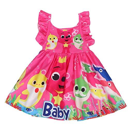 LQSZ Mädchen Kleid Baby Hai Thema Party Sommerkleid Geschenk Für - Winter Themen Kostüm Party