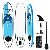 Aufun Stand Up Paddel Board 320 x 76 cm Suprfit SUP Board Aufblasbare Paddelboard Komplettset:...