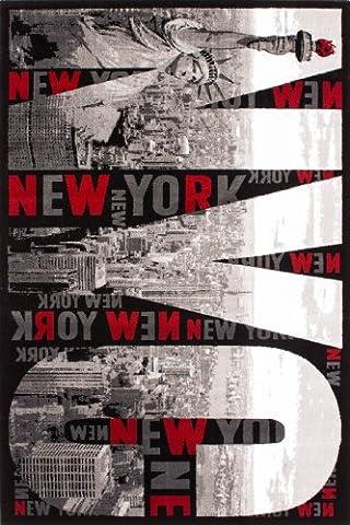Lalee 347221646 Lalee Moderner Designer Teppich Muster New York City Neu Größe 80 x 150 cm