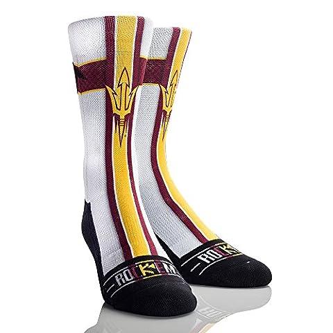 NCAA Arizona State Sun Devils Jersey Series University Custom Athletic Crew Socks, Large/X-Large,