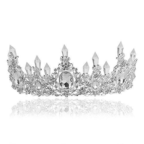 rosenice-diademi-da-sposa-strass-principessa-nuziale-di-cristallo-corona-earringsilver
