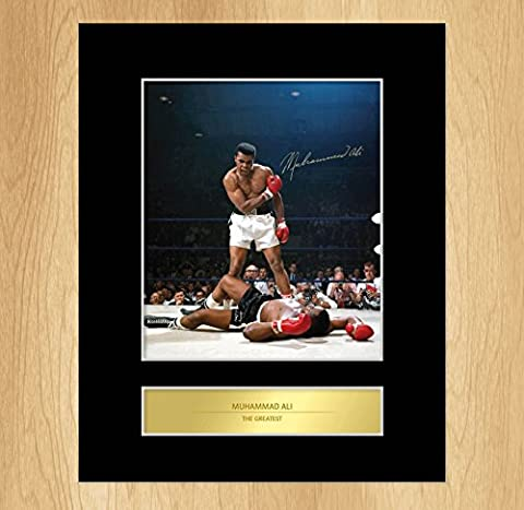 Muhammad Ali Signed Mounted Photo Display Sonny Liston Knockout by My Prints