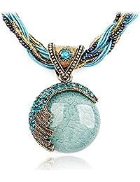 Joyería de alta calidad Revenne con cristales de Swarovski Lovely lámpara de techo colgante con acabado natural collar con colgante en forma de piedra incluye cadena R116