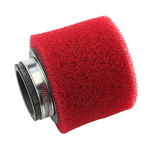 GOOFIT 38 mm Rouge Filtre à air pour quad ATV dirt bike et Go Kart