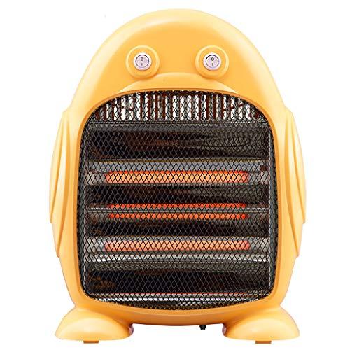 HANGESS Appareil de Chauffage Halogène à Trois Barres, Avec 3 Réglages De Chaleur et Interrupteur de Sécurité, Puissance à Deux Vitesses 400W / 800W (Orange)