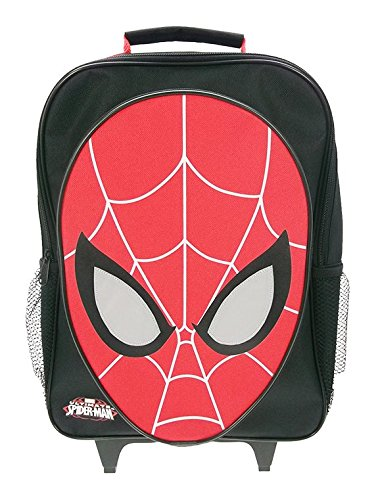 spiderman-novelty-reflective-wheeled-childrens-bag-36-cm-black