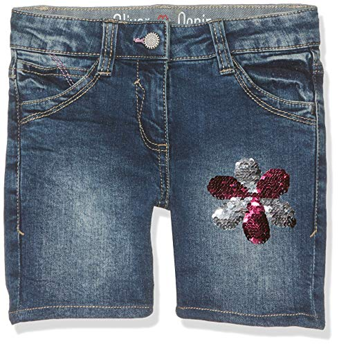 s.Oliver RED Label Mädchen Denim-Shorts mit Pailletten-Motiv Dark Blue wash den 134.REG