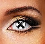 Funky Vision Kontaktlinsen - 3 Monatslinsen, Black Cross, Ohne Sehstärke, 1 Stück