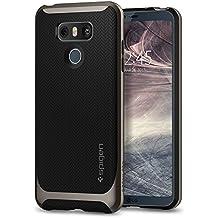 LG G6 Hülle, Spigen® [Neo Hybrid] Doppelschichter Schutz [Gunmetal] 2-teilige Premium Handyhülle Schwarz Silikon TPU Schale + PC Farbenrahmen Dual Layer Schutzhülle für LG G6 Case Cover - Gunmetal (A21CS21236)