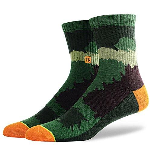 MEIKAN Neuheit Socken, Digitaler Druck irre Gemusterte Crew Sport Socken 1 Paar oder 3 Paar, Geeignet für Männer und Frauen. (Multicolor-001, 39-44) (Frauen-erwachsene Stiefel)