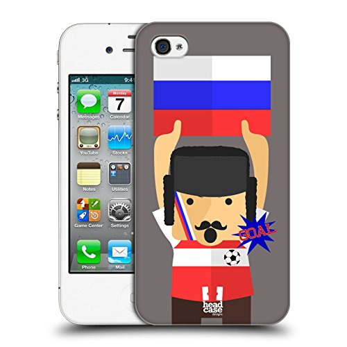 Head Case Designs Russia Viva Il Calcio Cover Retro Rigida per Apple iPhone 7 Plus / 8 Plus Russia