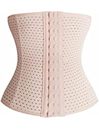 LACE AND ME Unisex Air Breath Tummy Grip Shapewear Belt Waist Trainer Trimmer and Slimming Corset with 3 Hooks Girdle and Wire Support