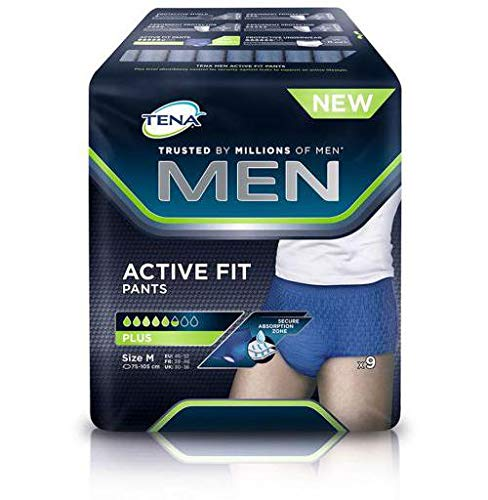 Tena Men Active Fit Pants Plus Slip saugfähig Gr. M (46 - 52) 9 Stück -