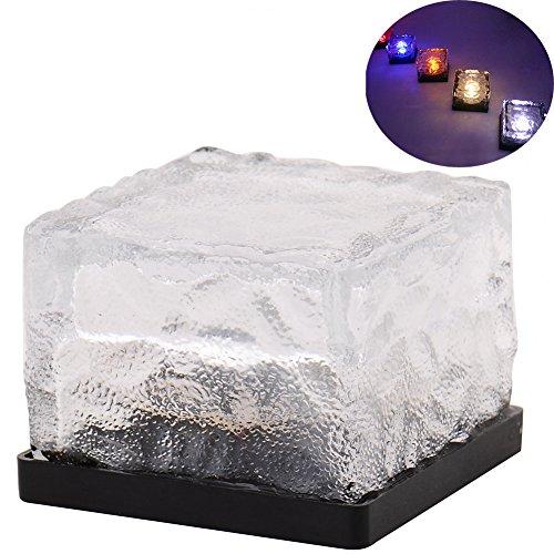 Ruta Solar LED de encendido cristal de tierra de cristal de hielo de l