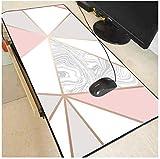 Mauspad Rose Gold Marmor Tastaturen Matte Gummi Gaming Große Mauspad Schreibtisch Matte Dekorative Desktop Gaming Mauspad Pad 900...