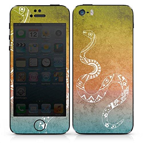 Apple iPhone SE Case Skin Sticker aus Vinyl-Folie Aufkleber Mandala Schlange Snake DesignSkins® glänzend