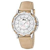 Reloj analógico Lotus 15747/5 de cuarzo para mujer con correa de piel, color beige