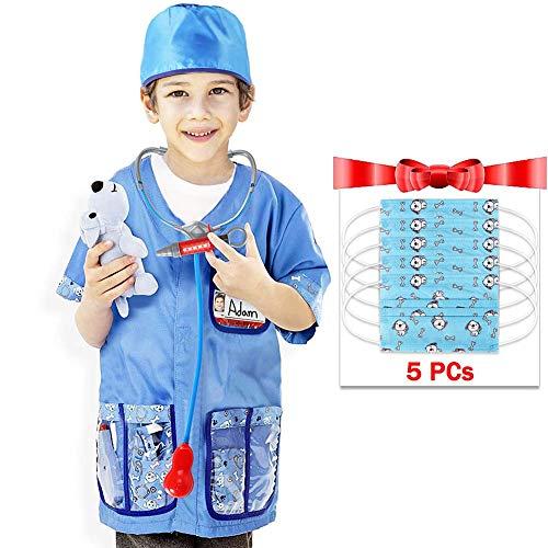 Tacobear Tierarzt Kostüm Zubehör Set Kinder Tierazt Kinderkostüm Rollenspiel für Halloween Cosplay Weihnachten Geburtstagsparty ()