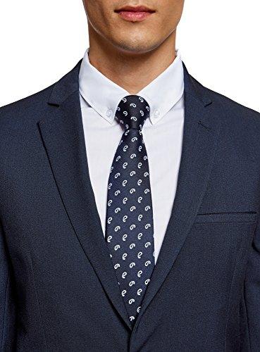 oodji Ultra Herren Taillierter Sakko mit Ein-Knopf-Verschluss Blau (7500O)