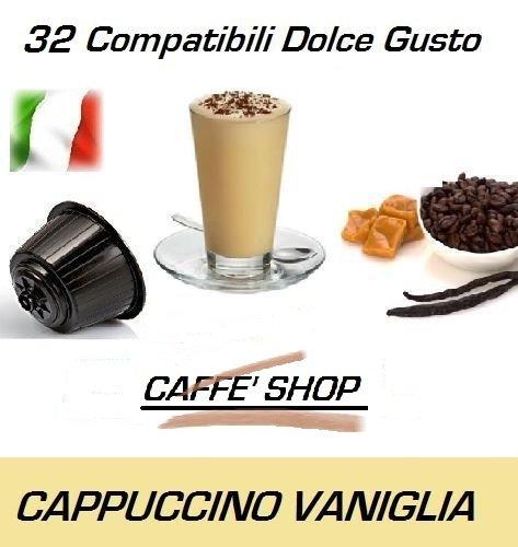 """Capsule Compatibili Nescafè Dolce Gusto®, 32 Capsule Miscela """"Cappuccino alla Vaniglia"""" Linea espresso"""