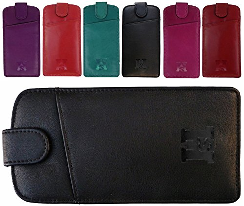 slim-quality-fine-leather-glasses-case-pouch-with-tab-fastener-red-black-purple-pink-turquoise-black