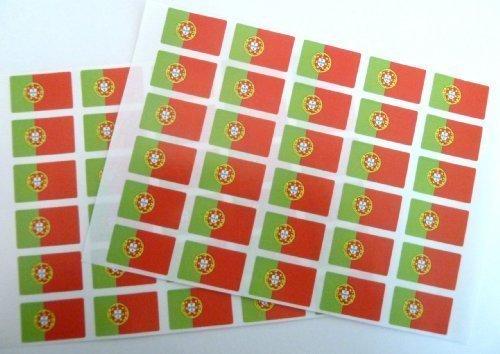 Pack de 60 , 33x20mm , Portugal autoadhesiva Pegatinas Bandera , autoadhesivo bandera Etiquetas